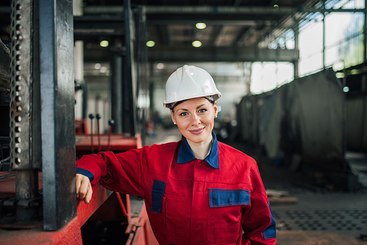 International Women's Day 2020: Female engineer at the factory